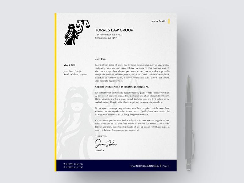 law letterhead mockup paul aleman dribbble dribbble
