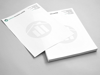 letterhead mockup ernest ojeh on dribbble