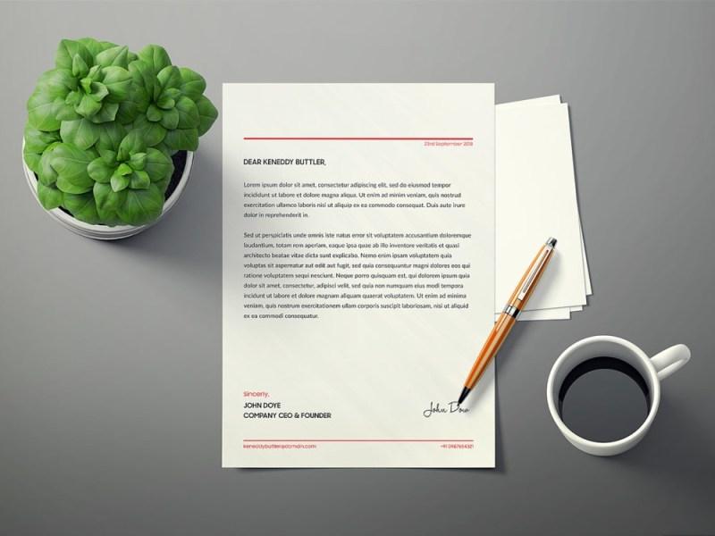 letterhead mockup free free mockup
