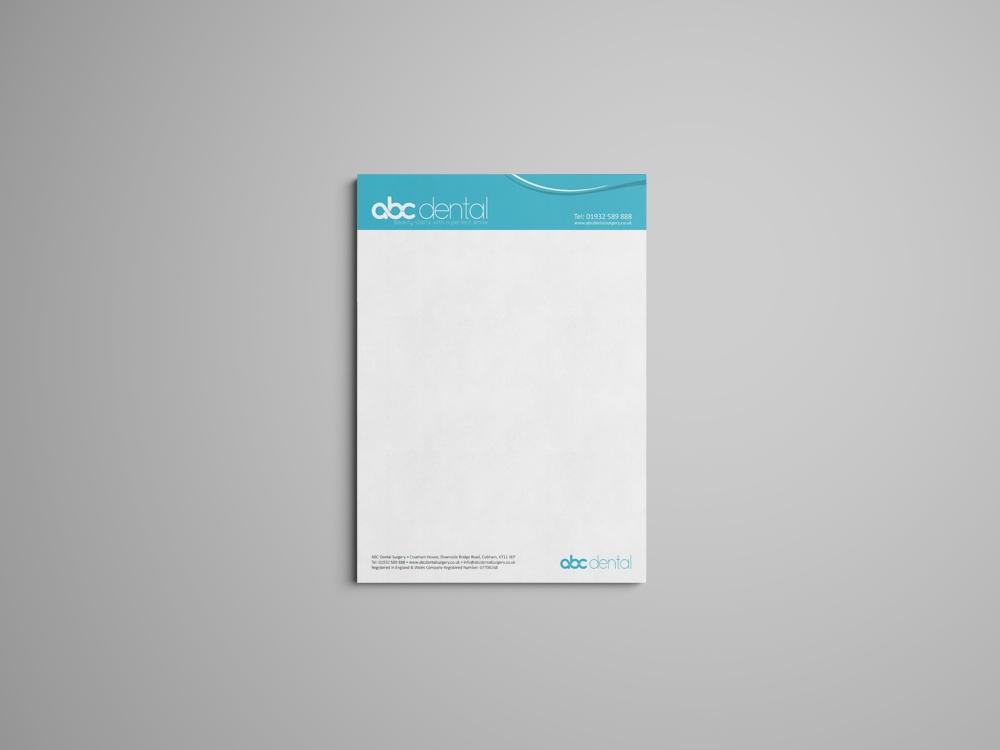 letterhead mockup web design and seo london
