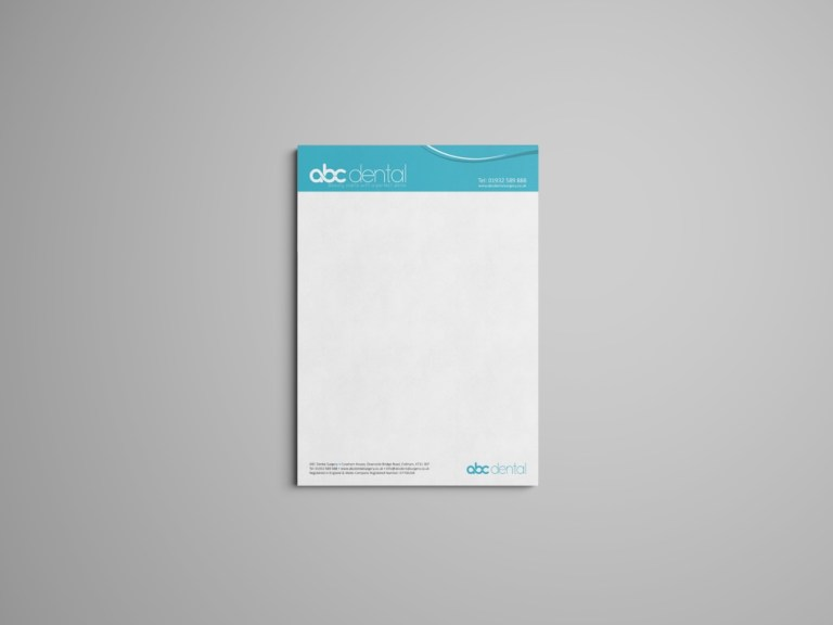 letterhead mockup web design and seo london