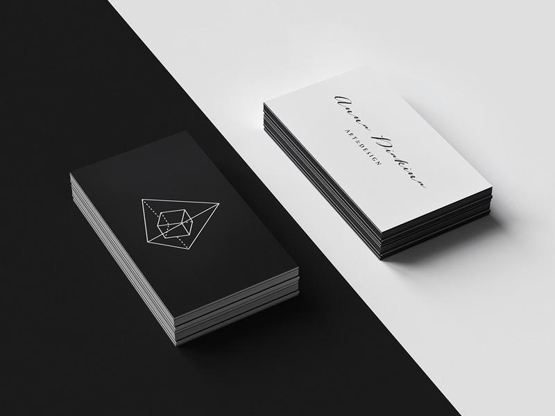 letterpress business cards mockup free psd template psd repo