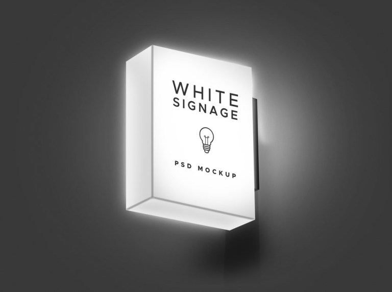 light sign mockup mockupworld