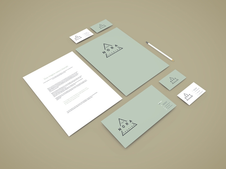 perspective branding stationery mockup graphberry