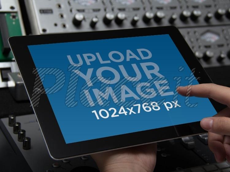 placeit ipad mockup ipad at music studio