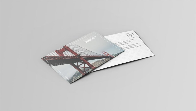 postcard invitation mock up on behance
