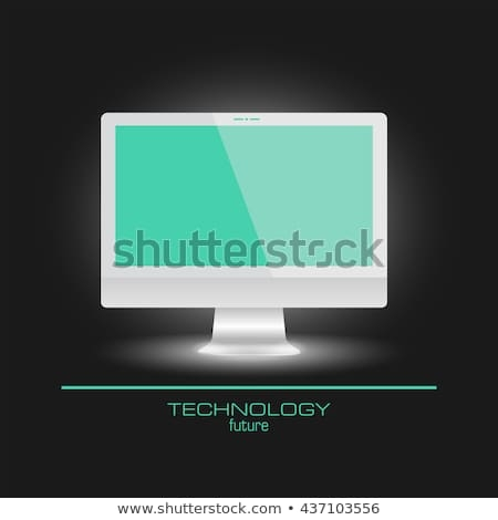 realistic computer mockup monitor laptop empty stock vector royalty