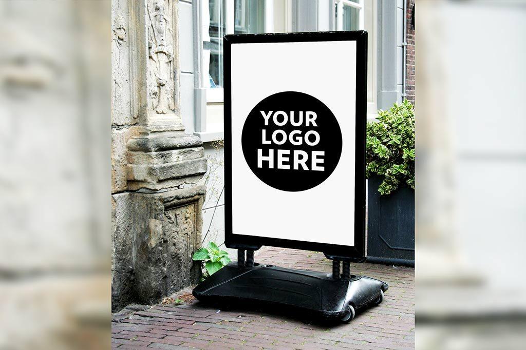 shop sign mockupworld