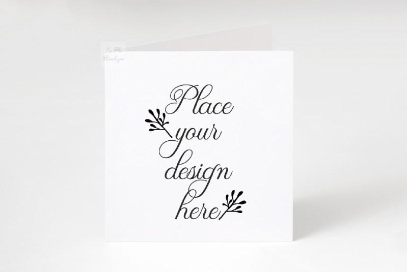 square greeting card mockup psd ivitation stationery mock up