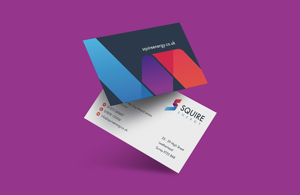 squire energy business card mockup ronin marketing