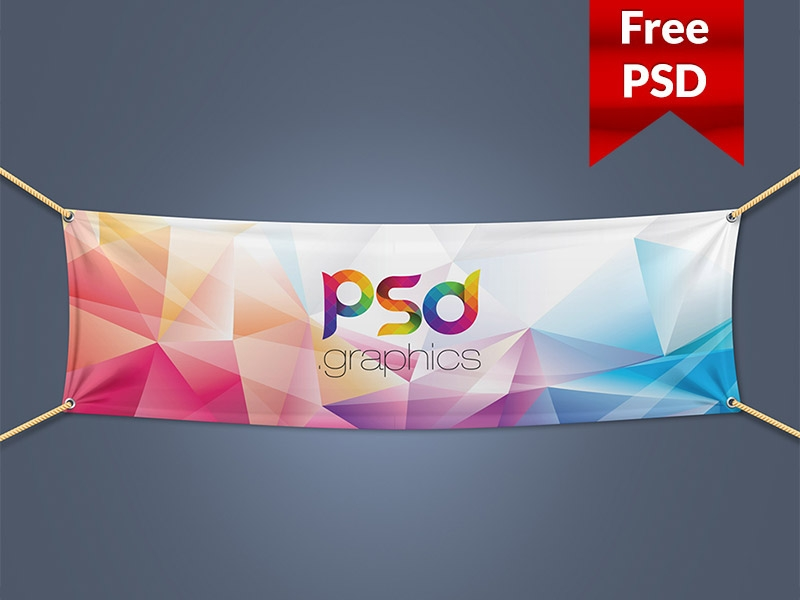 textile fabric banner mockup free psd psd freebies on dribbble