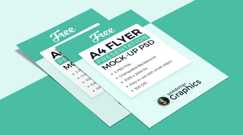 3 high quality free a4 flyer mockup psd files one dollar graphics