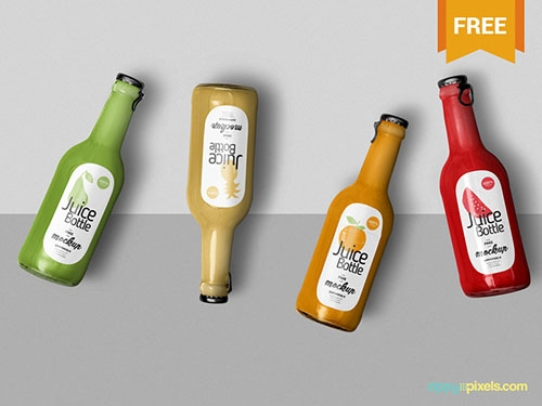 55 best free glass plastic bottle label mockup psd files