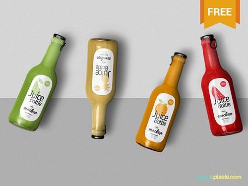 55 best free glass plastic bottle label mockup psd files