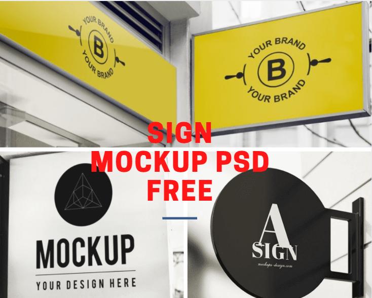 Signage Mockup Psd Free