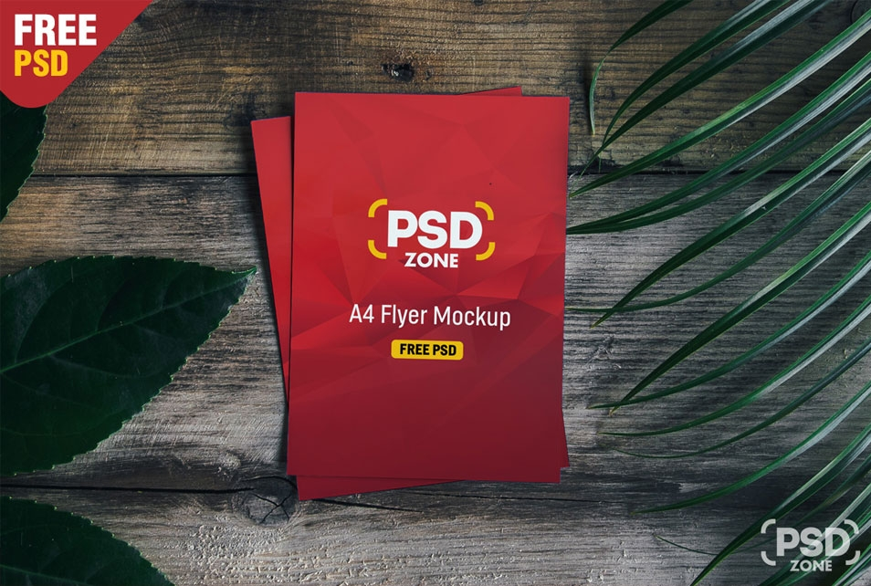 a4 flyer mockup free psd css author