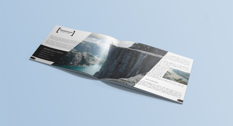 a4 landscape booklet mockup free version ondej hromdko portfolio