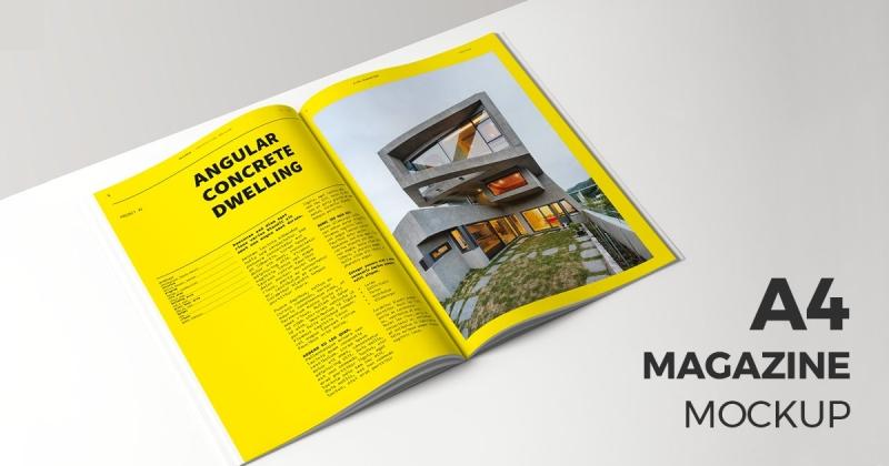 a4 magazine mockup makiplace