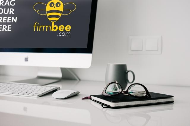 apple imac home office workspace free psd mockup firmbee