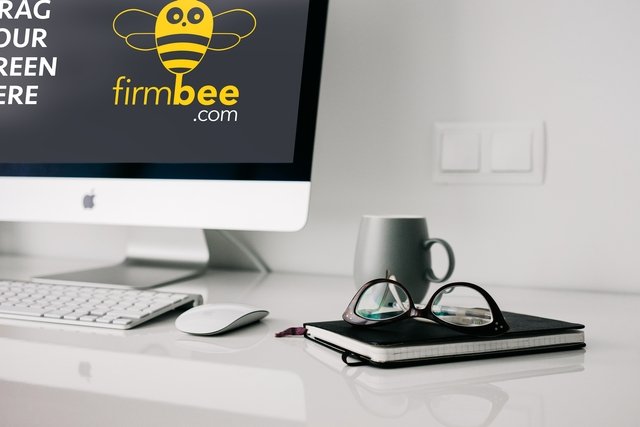 apple imac home office workspace free psd mockup firmbee