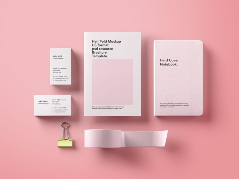 basic stationary mockup bundle mockupworld