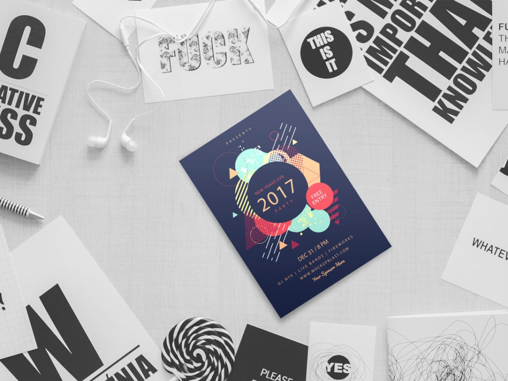 beautiful flyer mockup mockupblast