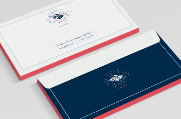 business envelope mock up psd file free download