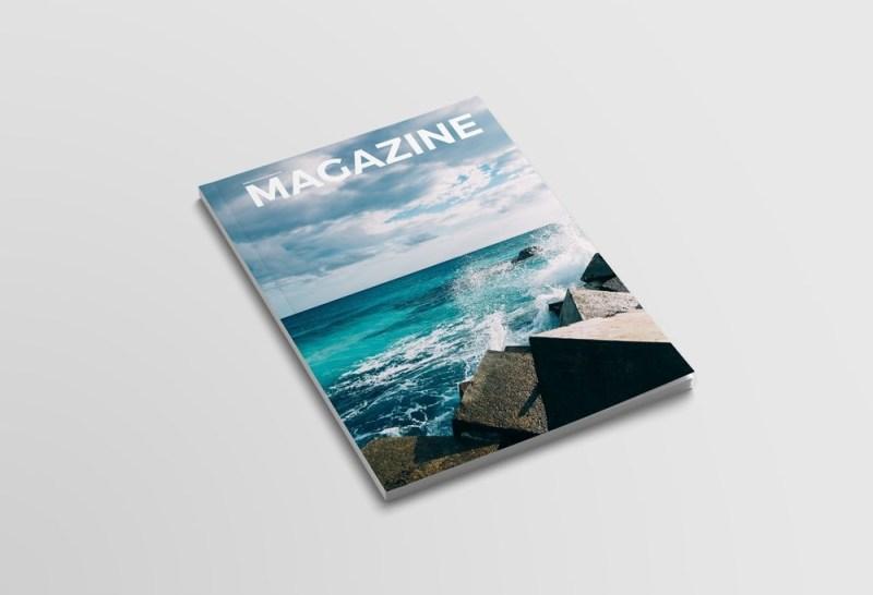 clean magazine cover mockup mockupworld