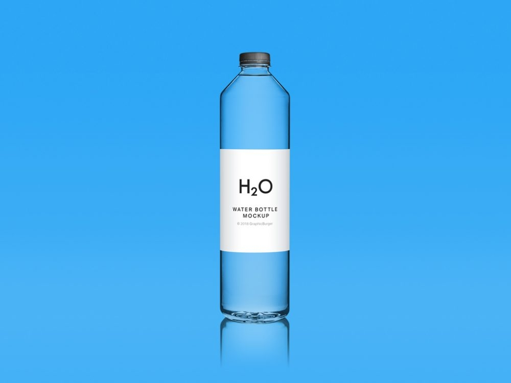 clean water bottle mockup mockupworld