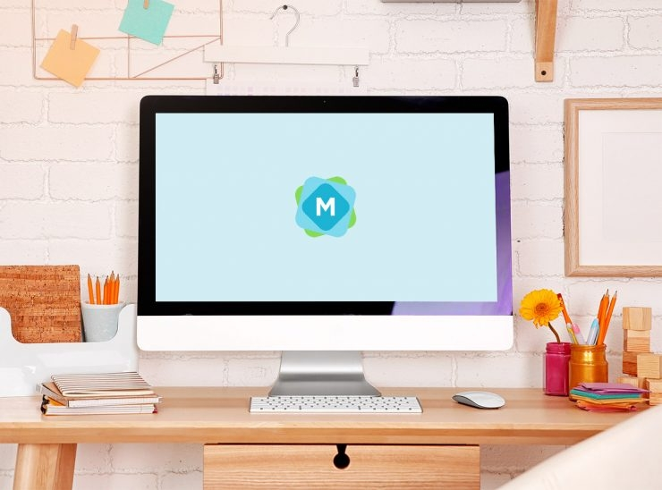 colorful imac mockup mockup templates
