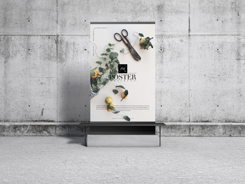 concrete environment display poster mockup poster mockup