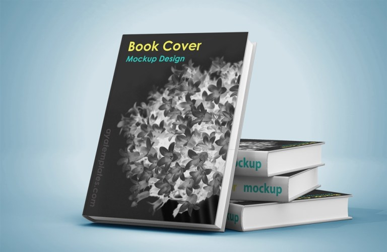 cover book mockup design aya templates