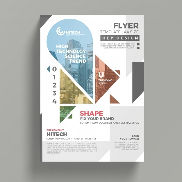 creative flyer mockup psd file free download