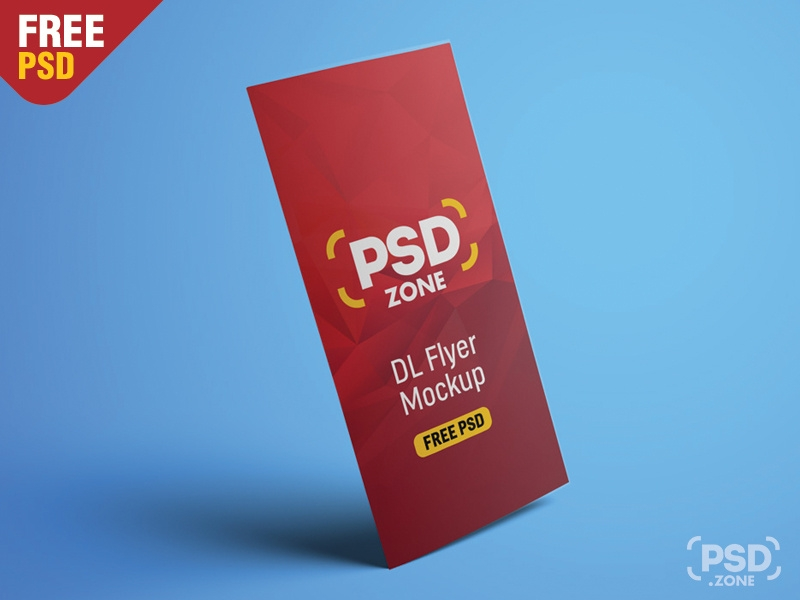 dl flyer mockup free psd psd zone on dribbble