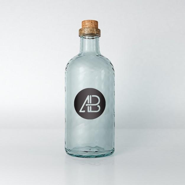 empty bottle mock up psd file free download