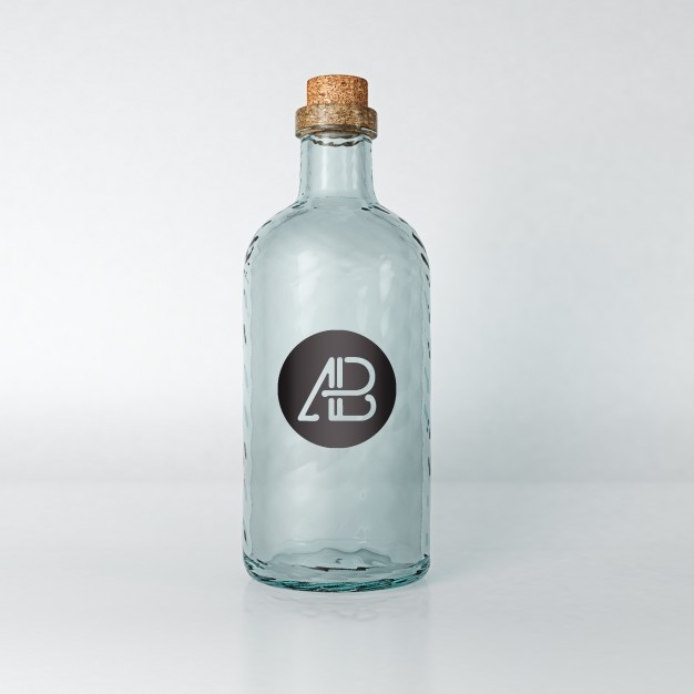 empty bottle mock up psd file free download