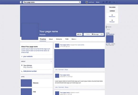 facebook 2014 page mockup freebiesbug