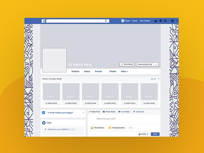 facebook 2018 profile cover mockup free psd template psd repo
