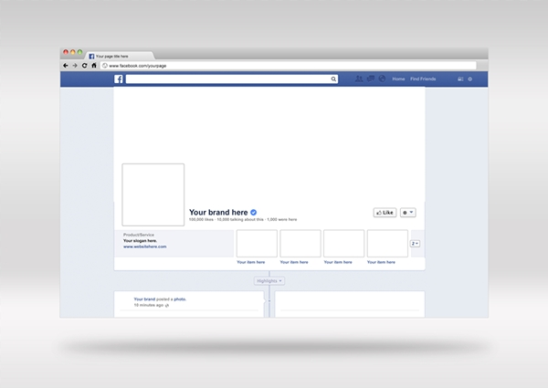 facebook photoshop cover mockup on behance