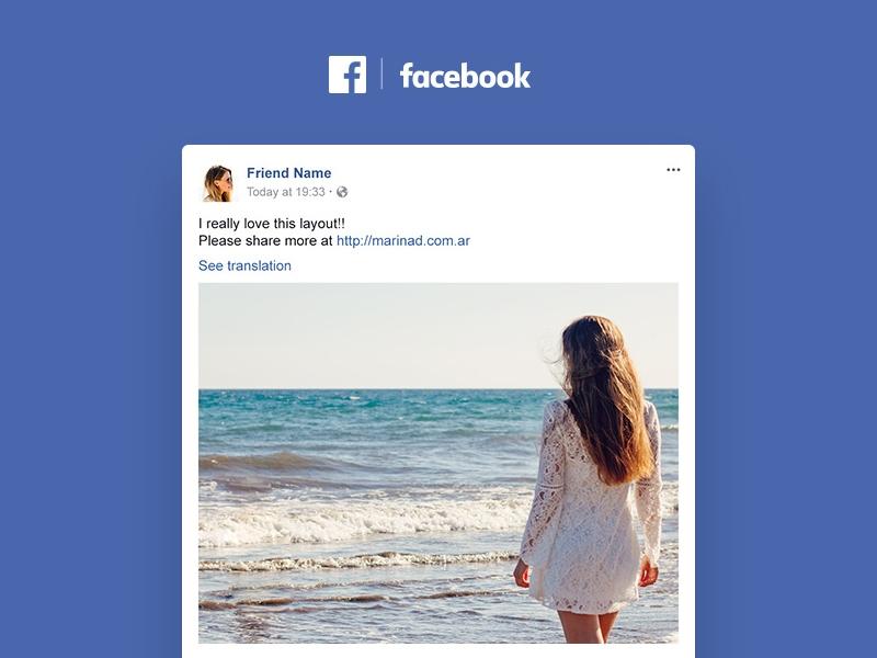 facebook post mockup free psd template psd repo