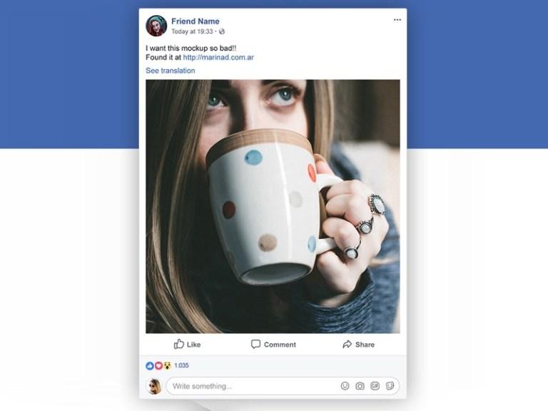 facebook post psd mockup mockupsq