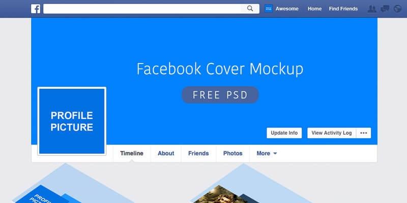 facebook psd cover mockup people