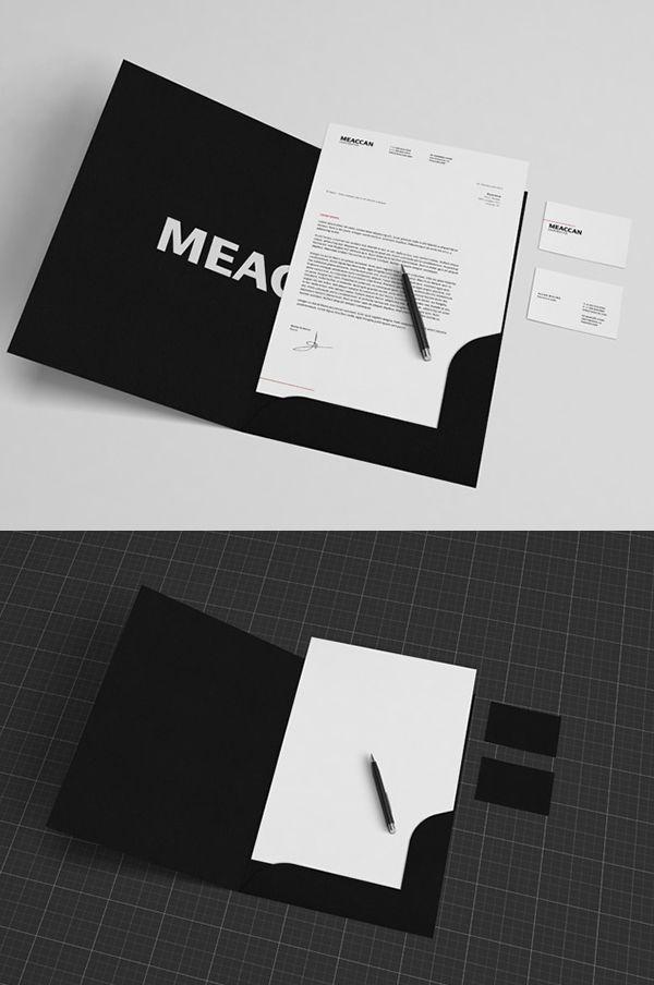free black white stationery mockup branding stationerymockup