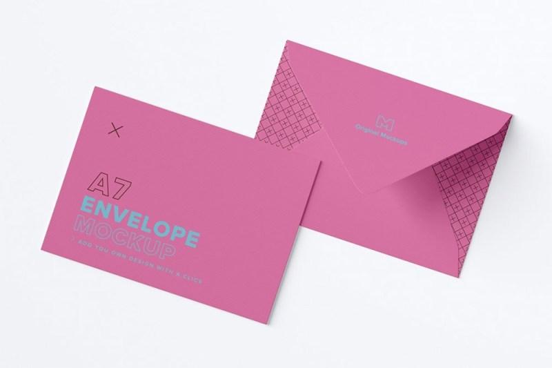 free download a7 envelope mockup in psd designhooks
