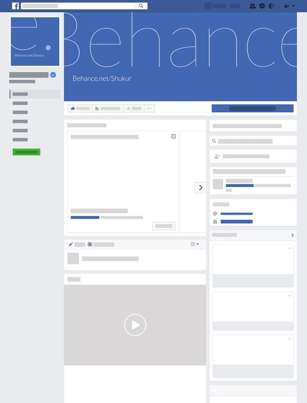free facebook page layout psd mockup mockup templates for
