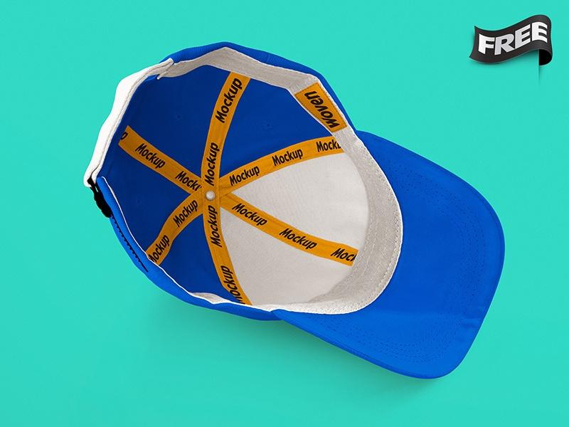 free hat mockup inside view kristianus kurnia dribbble dribbble