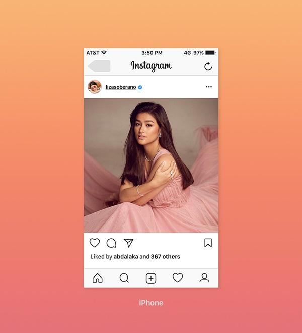 free instagram ui feed screen mockup psd template 2017 on pantone