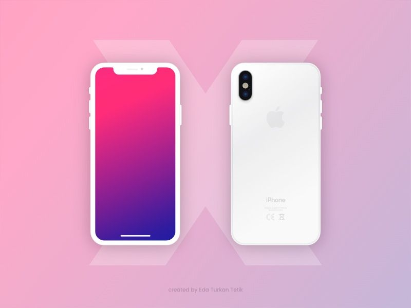 free iphone x mockup xd resources