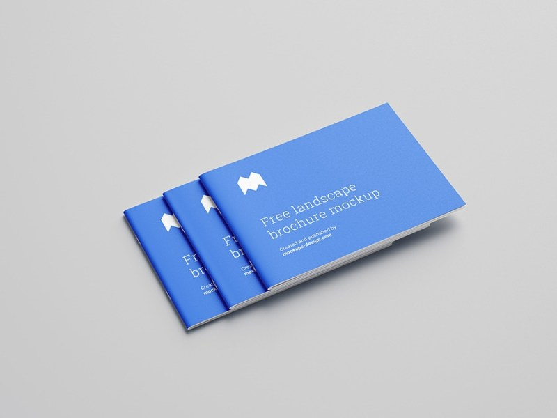 free landscape brochure mockup mockups design free premium mockups