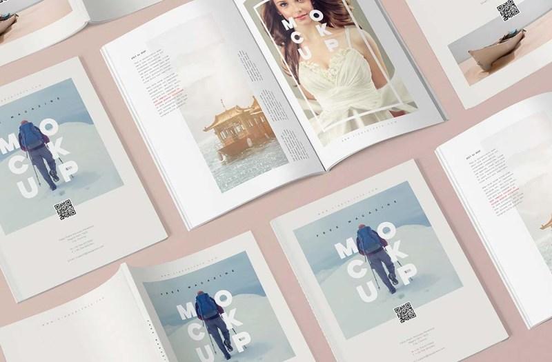 free magazine mockup templates mockuptree